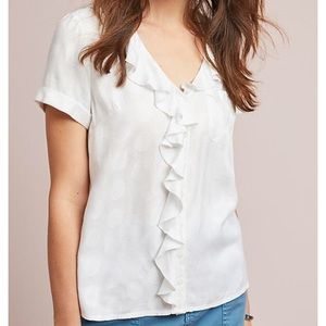 [NWT] Anthropologie Maeve Jojo Ruffled Button top